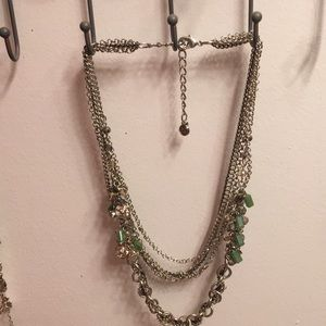 Silver and Greenish blue necklace